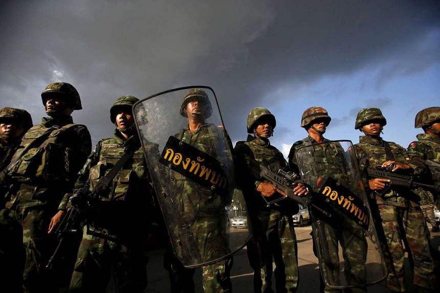 Thailand's military is wary of potential disturbances by dissidents, an analyst said.