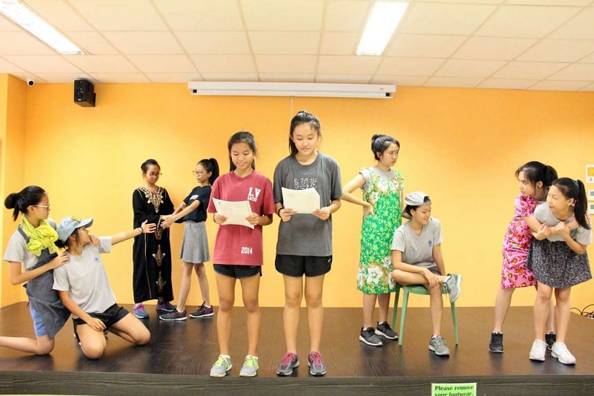 St Anthony's Canossian Secondary School students performing a local rendition of Romeo And Juliet. The school gets its students to dramatise Shakespeare's plays so they can overcome their phobia of Shakespearean language.