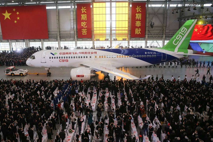 The C919, a narrow-body jet which can seat 168 passengers, is China's first big passenger plane.