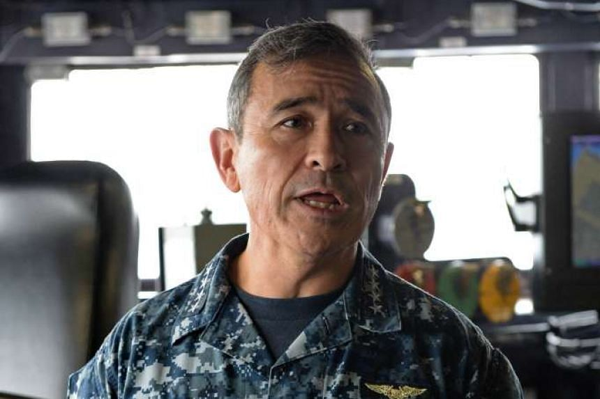 "Admiral Harry Harris said that the US military will continue to operate ""wherever"" international law allows."