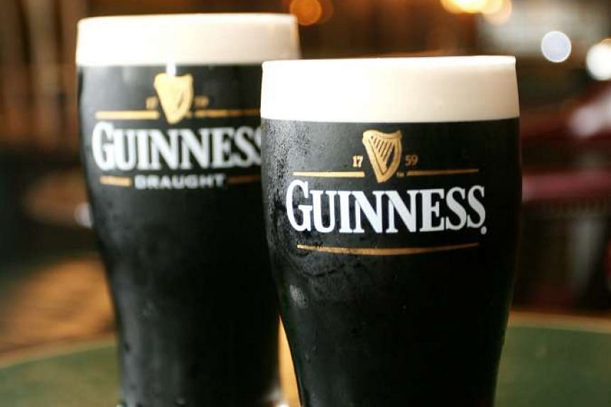 British drinks giant Diageo said it would be removing isinglass - made from fish guts - from the brewing process of Guinness at St James Gate Brewery in Dublin.