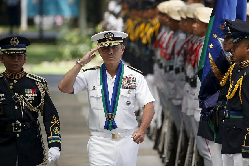 US Pacific Command commander Admiral Harry Harris in the Philippines on Aug 26, 2015.