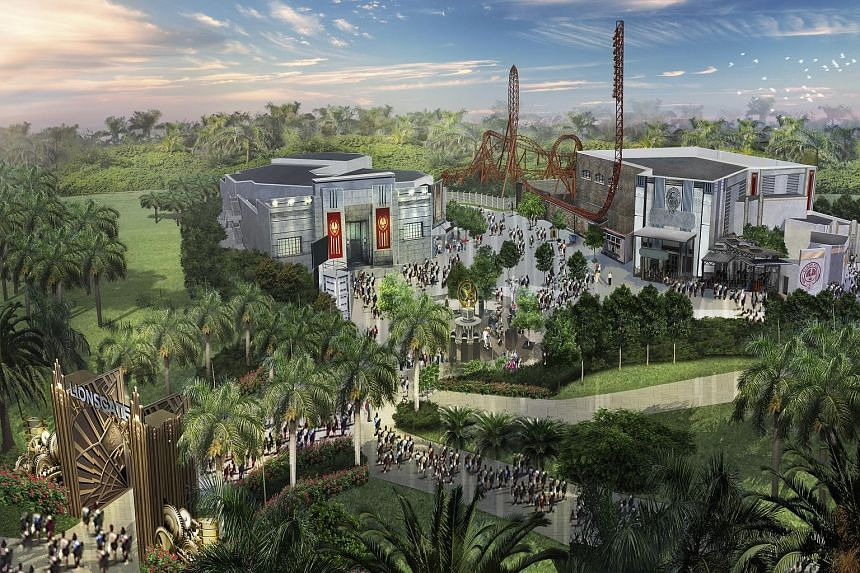 The Hunger Games theme park (above).