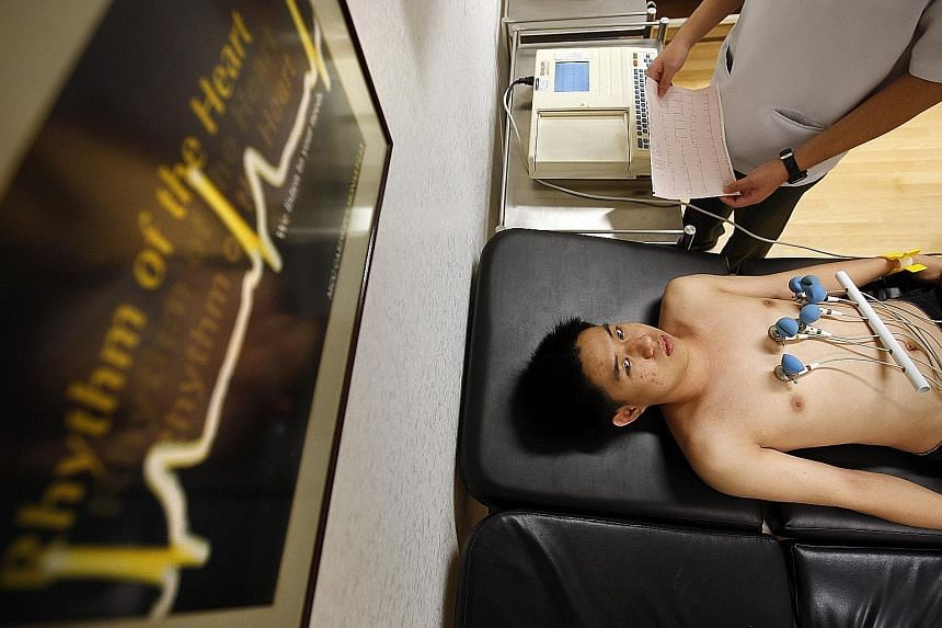 One of the initial tests for those with palpitations is an electrocardiogram (above), which can help to determine the cause.