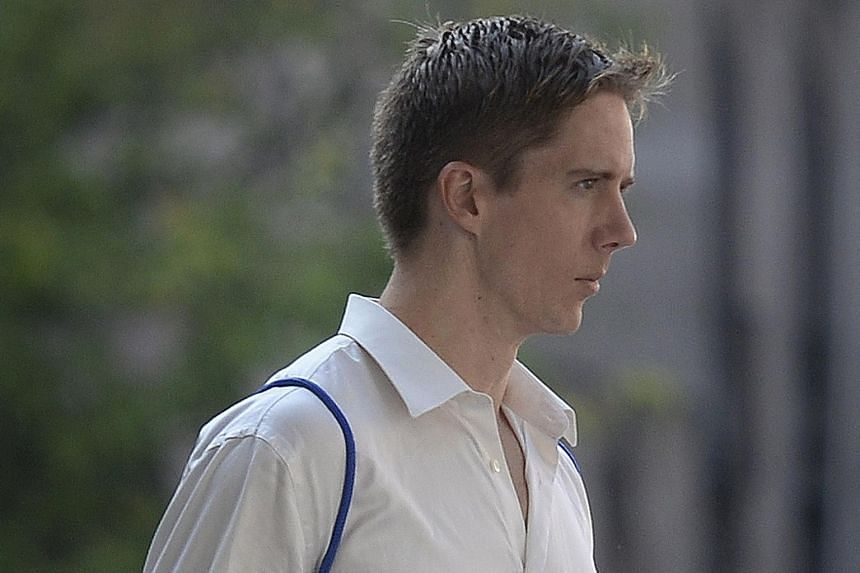 Ian Damery Fitzgerald, 31, was convicted of hitting a taxi driver and throwing his walkie-talkie into Marina Bay after a drunken night out.