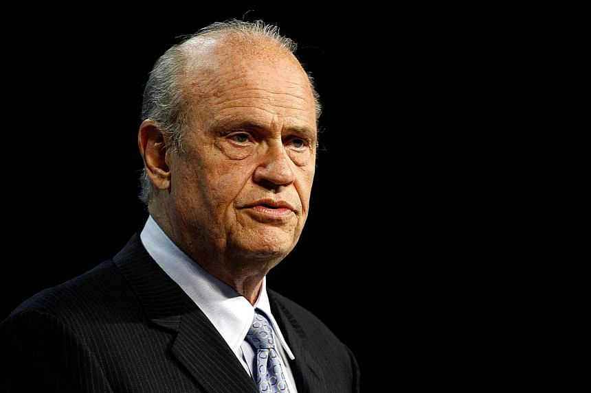 Mr Fred Thompson's (left) most notable TV role is as a district attorney in the Law & Order series.