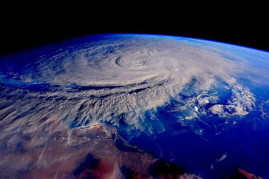 A view of tropical cyclone Chapala in the Arabian Sea, seen from the International Space Station last Saturday.