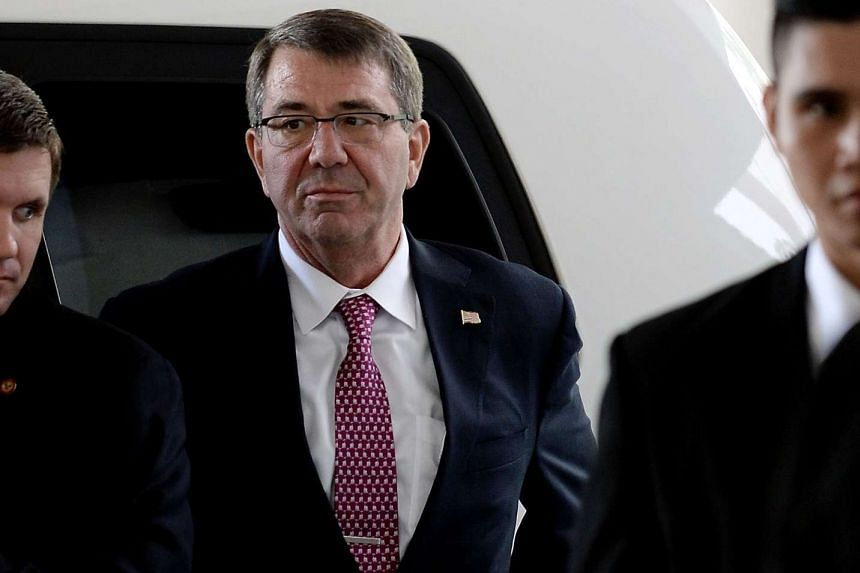 US Defence Secretary Ashton Carter arrives for a bilateral meeting on the sidelines of the Asean Defence Ministers' meeting in Subang.