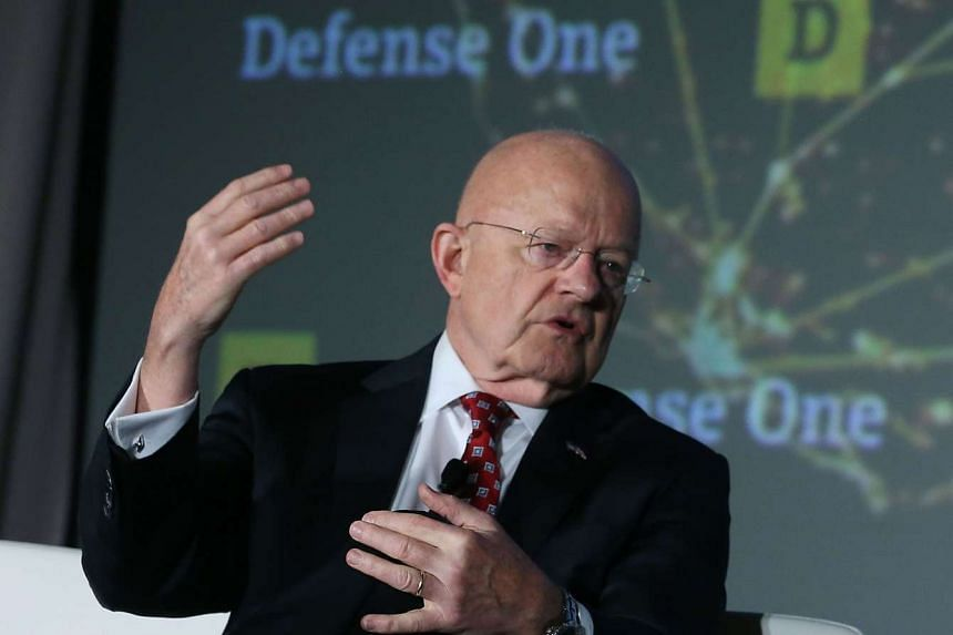 Director of US National Intelligence James Clapper speaking about threats to the US during the Defence One annual summit.