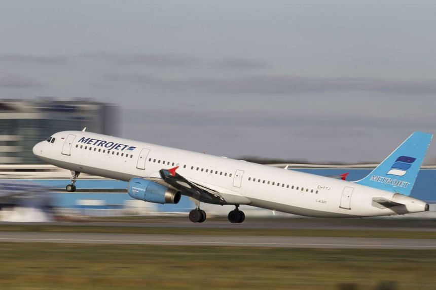 The Metrojet's Airbus A321 with registration number EI-ETJ that crashed in Egypt's Sinai peninsula, takes off from Moscow's Domodedovo airport, Russia, in this picture taken on Oct 20, 2015.