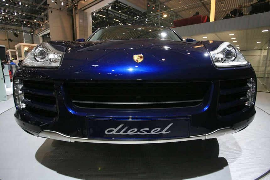 A Porsche Cayenne Diesel is pictured at the Geneva Car Show at the Palexpo in Geneva.