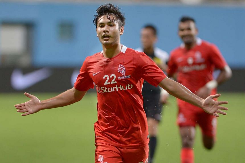 File picture of Christopher van Huizen, who scored late in the match to give LionsXII a win against Terengganu on Wednesday, Nov 4, 2015.
