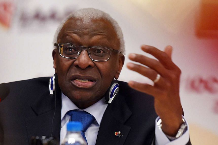 Former IAAF president Lamine Diack was charged on Nov 4, 2015 with corruption relating to the federation's anti-doping campaign.