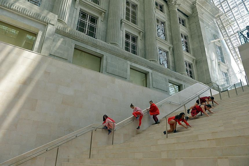 The Arts Fission Company will perform In The Name Of Red, a dance inspired by the shades of red in works of art in the galleries, at the Padang Atrium space. Performances in the genres of dance, music, theatre and film will be part of the National Ga