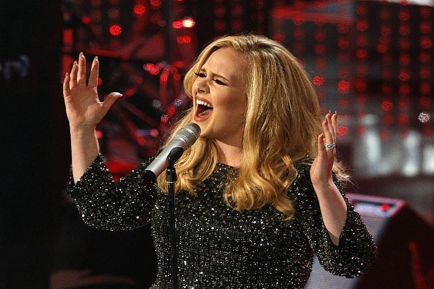 Hello by Adele (above, in a file photo) is from her upcoming album, 25.