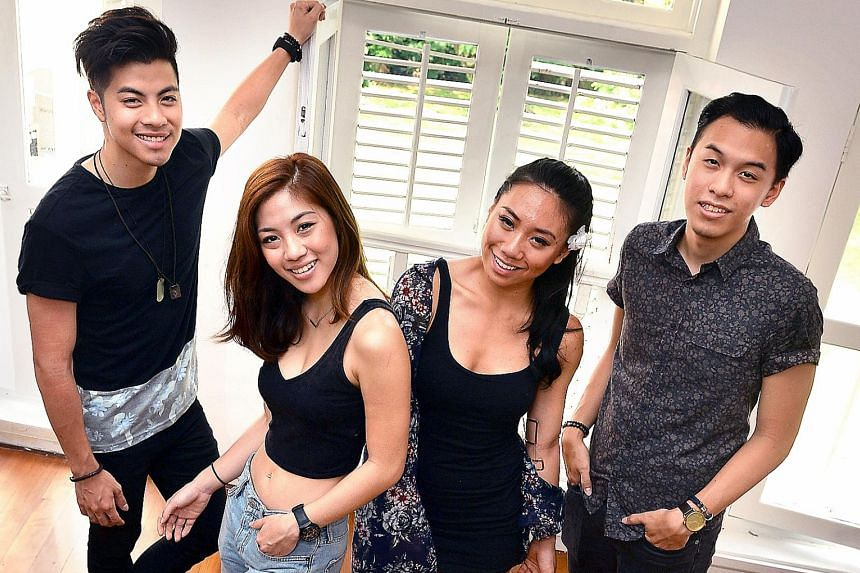 The Sam Willows comprise (from far left) Benjamin Kheng, Narelle Kheng, Sandra Riley Tang and Jonathan Chua.