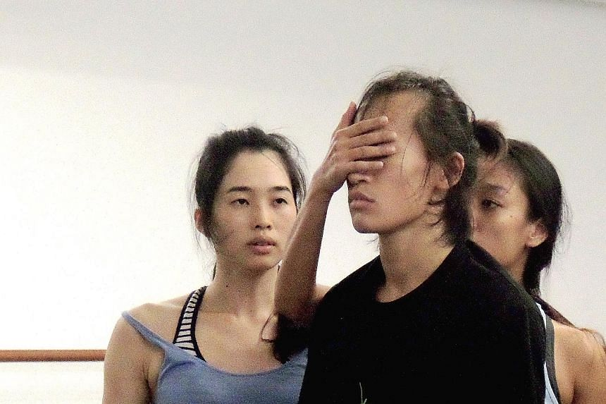 Dancers rehearse Raw Moves' latest production, The Fleeting Moment.
