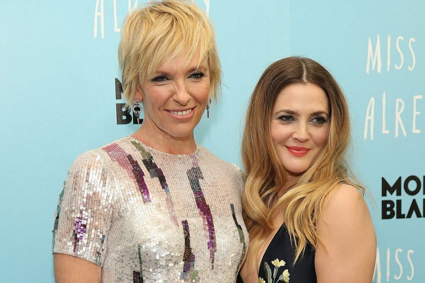 Actresses Toni Collette (far left) and Drew Barrymore are the leads in a new film, Miss You Already.