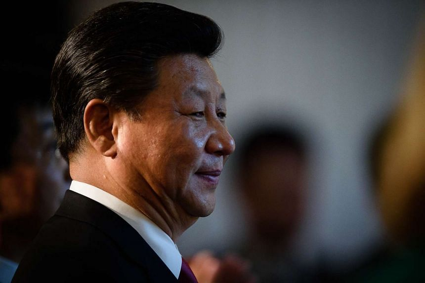 Chinese President Xi Jinping prepares to address guests and delegates at the UK-China Business Summit in London.