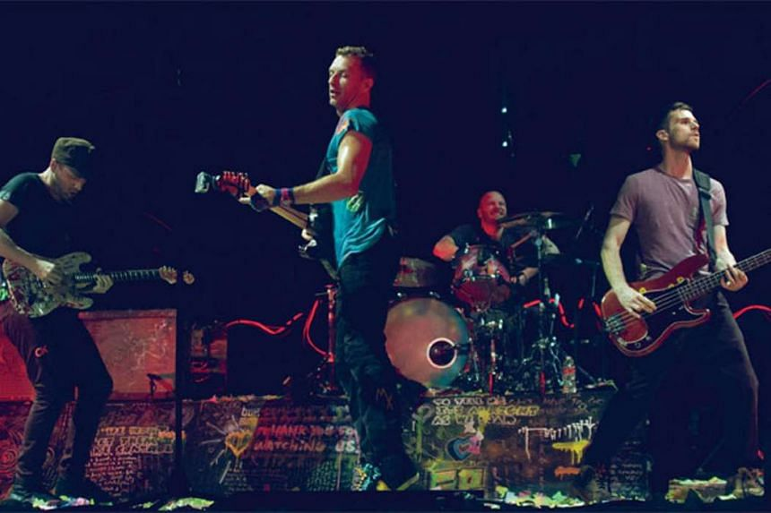 Coldplay's 2012 Mylo Xyloto tour.