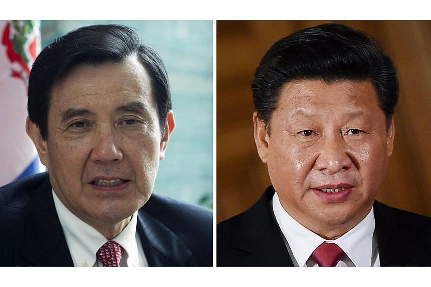 Chinese President Xi Jinping (right) will be meeting Taiwan President Ma Ying-jeou in Singapore on Nov 7, 2015.