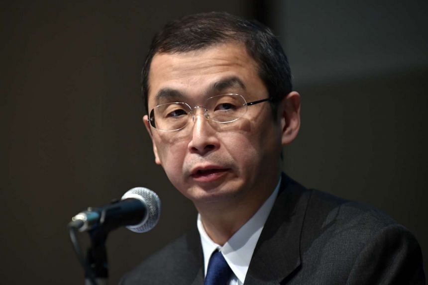 Takata Corp Chairman and President Shigehisa Takada answers questions at a press conference in Tokyo on Nov 15, 2015.