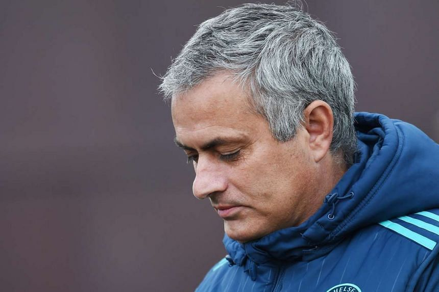 Mourinho during a training session at Chelsea's training complex on Nov 3, 2015.