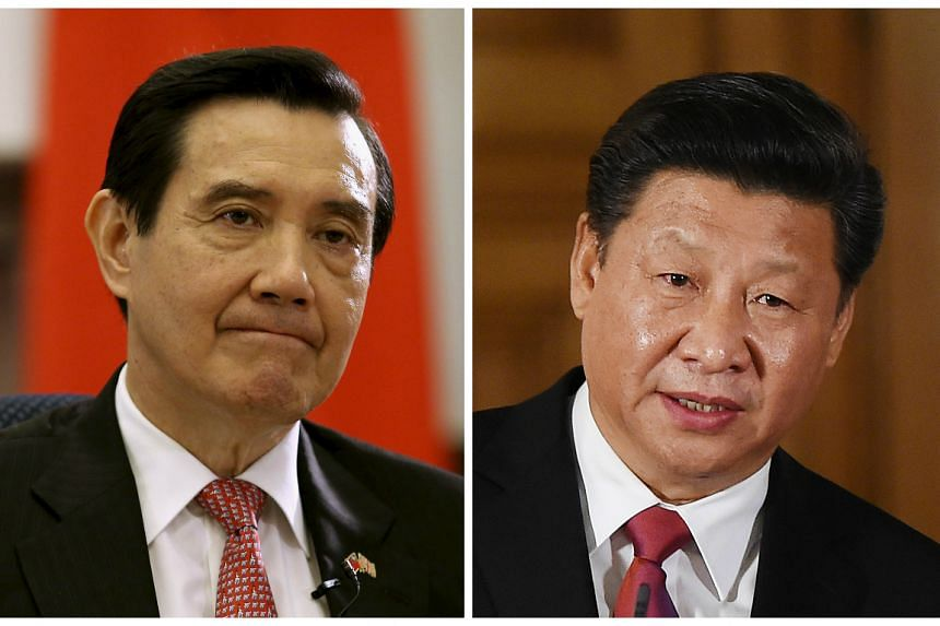 Taiwan President Ma Ying-jeou (left) and Chinese President Xi Jinping will meet in Singapore, according to Taiwanese media.
