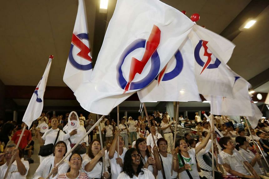 PAP supporters at Toa Payoh Stadium.