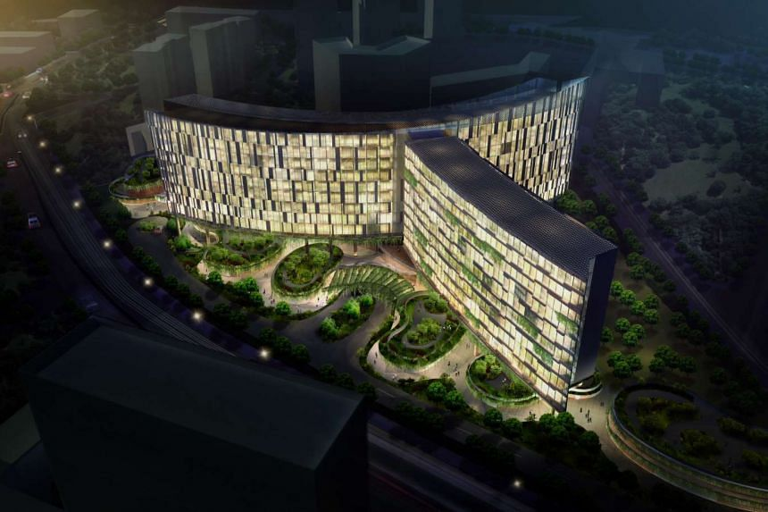 An artist's impression of Oxley's new hotels along Stevens Road, which will operate under the Novotel and Ibis brands.