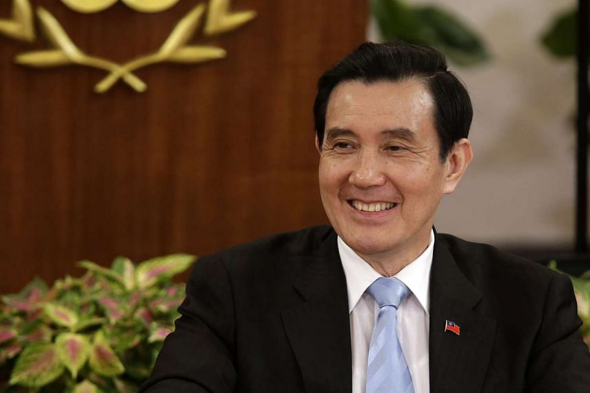 Taiwanese President Ma Ying-jeou speaking at a news conference at the presidential office in Taipei on Nov 5.