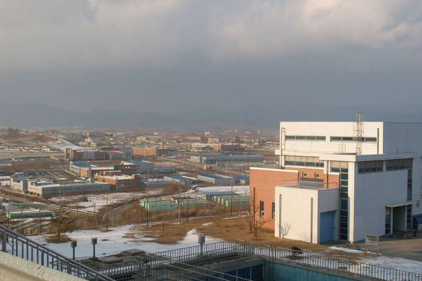 The Kaesong industrial estate lies just across the border in North Korea.