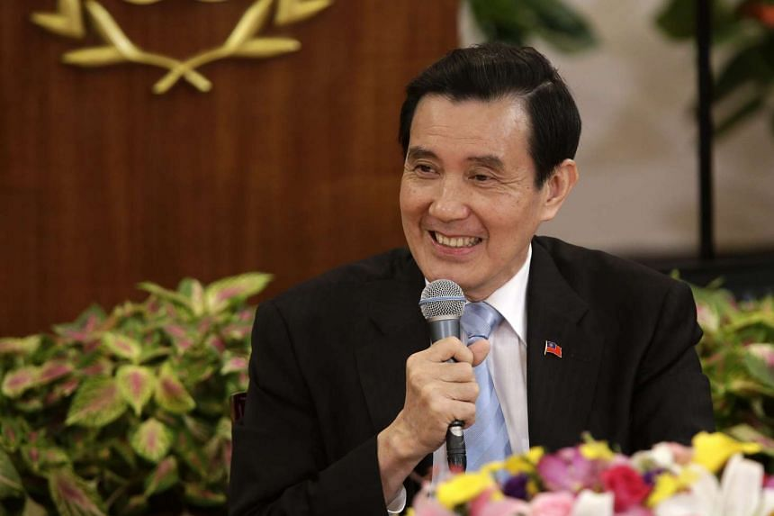Taiwanese President Ma Ying-jeou speaks during a presidential news conference at the presidential office in Taipei.