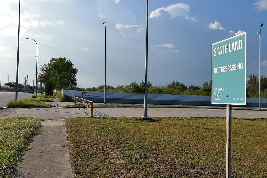 The site of the Changi Motorsports Hub, a project that ground to a halt two years ago.