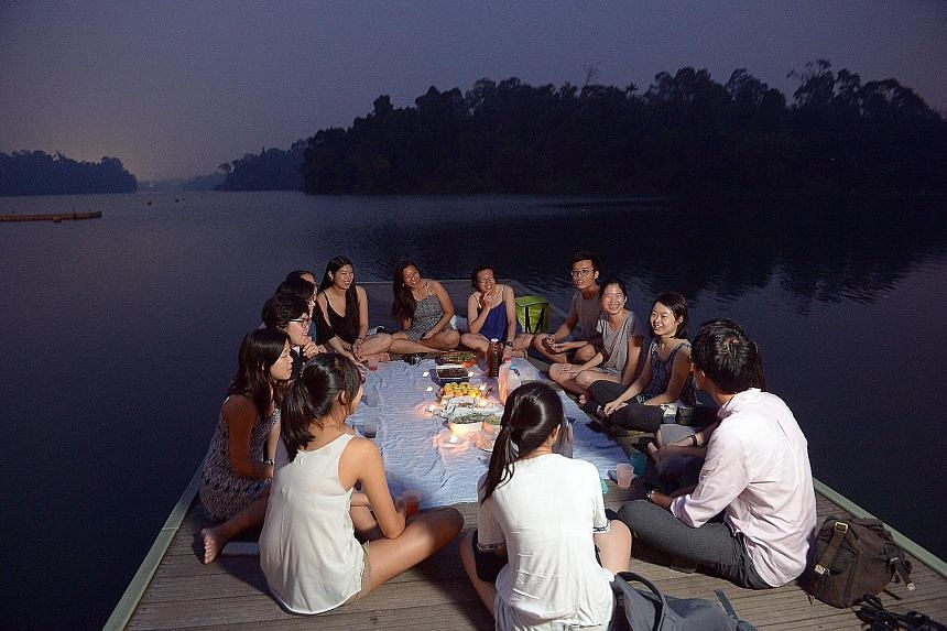 At Hygge's most recent dinner at MacRitchie Reservoir in September, chef Pamelia Chia and urban farming specialist Wex Woo and their guests shared food by candlelight while discussing the sustainability of the food chain.