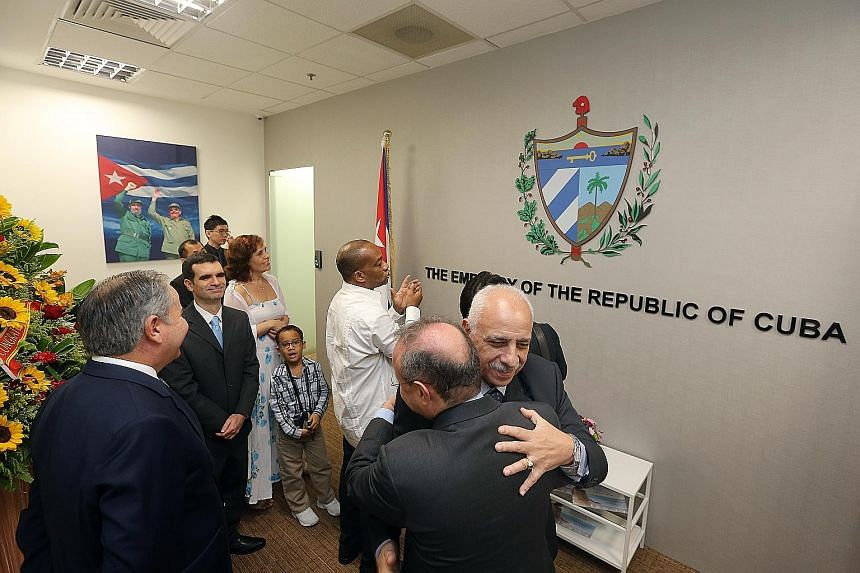 Cuba has opened its embassy here, making Singapore the 125th country in which the Caribbean island has a consular presence. The embassy, at King's Centre along Havelock Road, was launched yesterday. It was officiated by Ambassador Roberto Blanco Domi