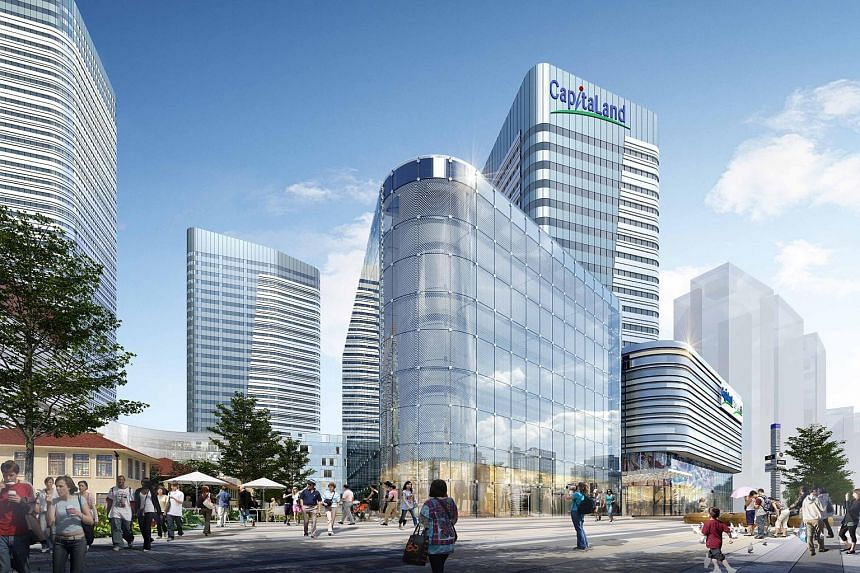 An artist's impression of Raffles City Changning in Shanghai. Higher revenue from China was partly offset by lower sales recognition from development projects in Singapore and Vietnam.