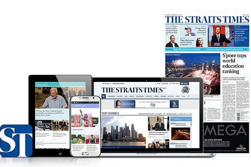 The Straits Times remains the most-read English news daily in Singapore, with its combined print and digital versions reaching about a third of the population every day.