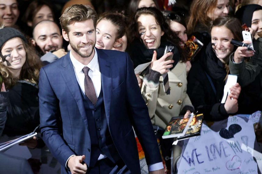 Liam Hemsworth arriving for the world premiere of The Hunger Games: Mockingjay - Part 2 in Berlin, Germany, on Nov 4, 2015.