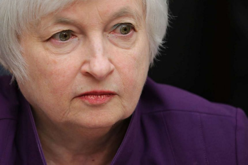 Yellen testifies before the House Finance Committee in Washington, DC.