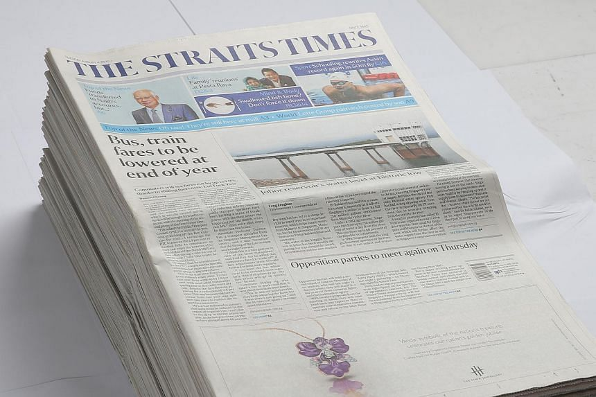 The Straits Times remains the most-read daily newspaper in Singapore.