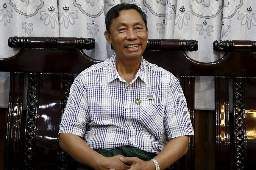 Former Myanmar ruling party chief Shwe Mann at his home in Phyu on Nov 4, 2015.
