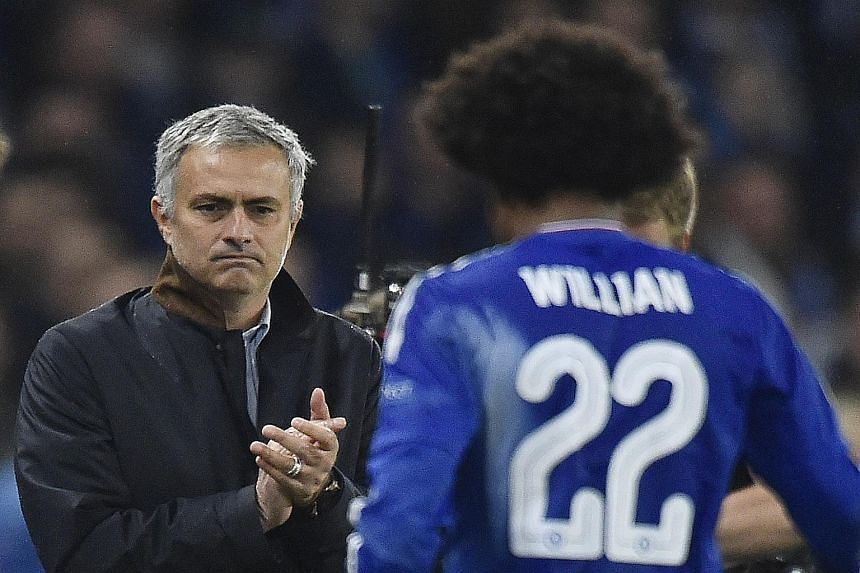 Willian's winning goal, seven minutes from time, was greeted by fans' chants of support for manager Jose Mourinho, which he acknowledged.
