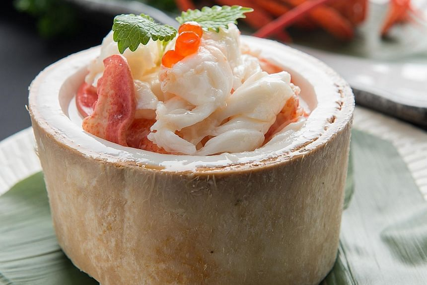 Chilled fresh lobster coconut jelly from Xi Yan.