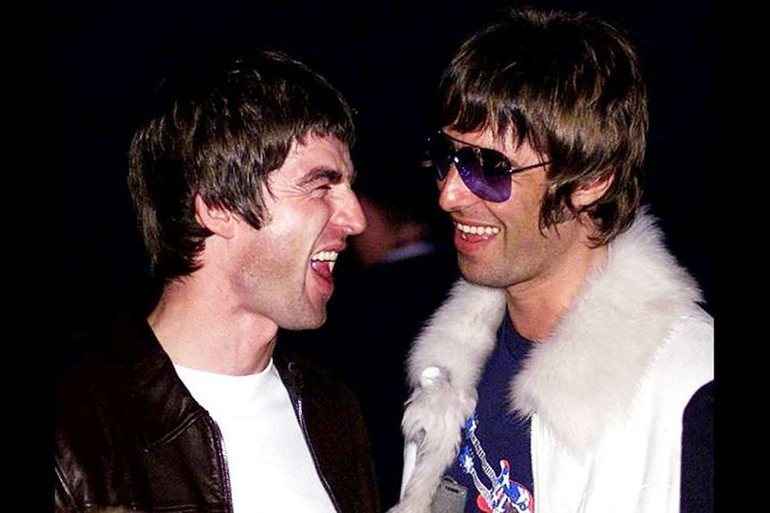 Noel (left)) and Liam Gallagher from the popular 1990s Britpop band Oasis.