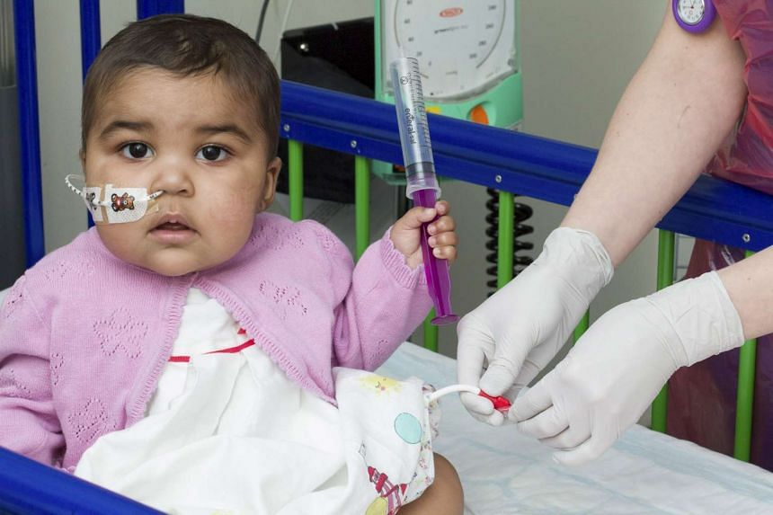 Baby Layla at the Great Ormond Street Hospital in London on June 24.