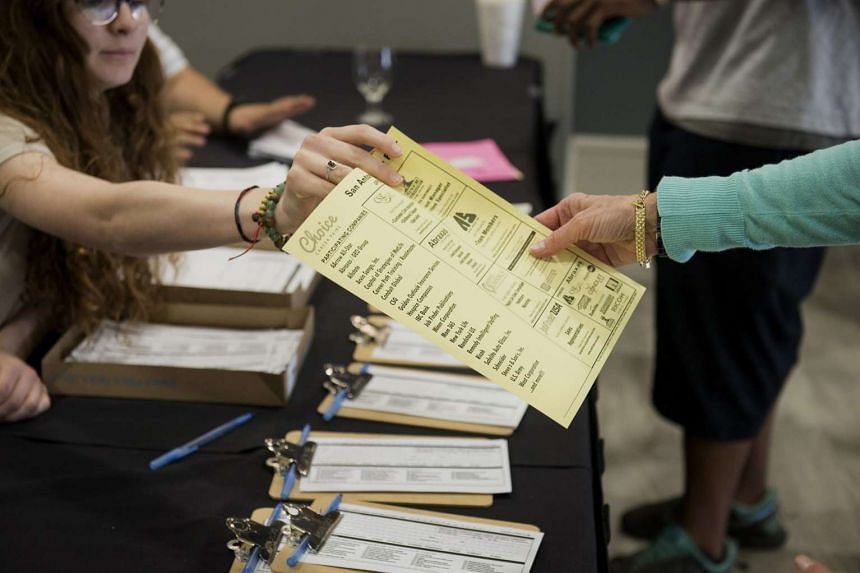 File picture of a job fair in San Antonio, Texas. PHOTO: BLOOMBERG
