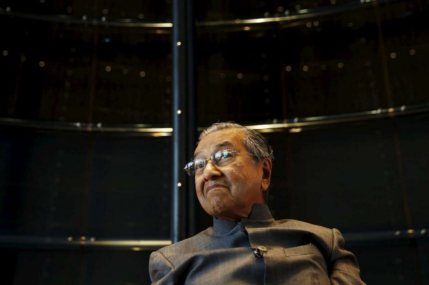 Malaysia's former PM Mahathir Mohamad during an interview with Reuters at his office in Kuala Lumpur, Malaysia, on Oct 22, 2015.