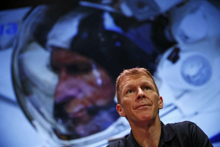 British astronaut Tim Peake at a London news conference on Nov 6, 2015.