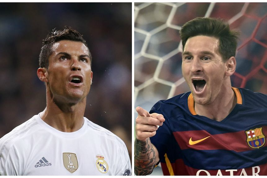 Cristiano Ronaldo (left) is tired of comparisons with Lionel Messi (right).